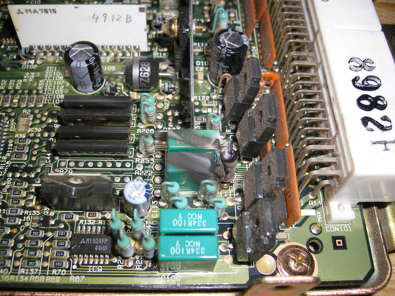 Mitsubishi Eprom Ecu Info Pajero Wiring Diagram 1995 Ls Board Bad Capacitor